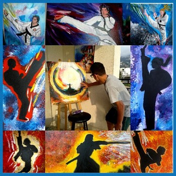 Paintings of Taekwondo